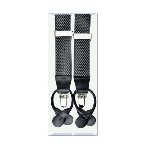 MISSOURI Brad Suspenders in Silver & Grey - Giorgio Mandelli® Official Site | GIORGIO MANDELLI Made in Italy