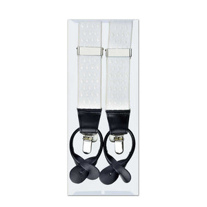 MISSOURI Lincoln Suspenders in Snow White - Giorgio Mandelli® Official Site | GIORGIO MANDELLI Made in Italy