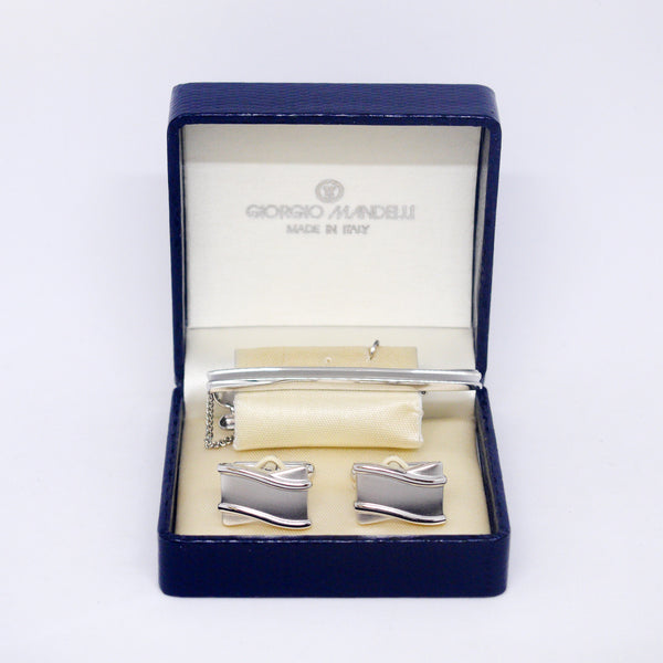 Wave Tie Bar Set - Giorgio Mandelli