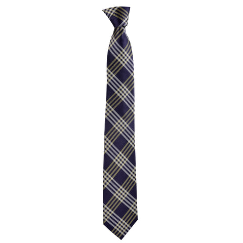 Checkered Rory Tie in Indigo Plaid - Giorgio Mandelli