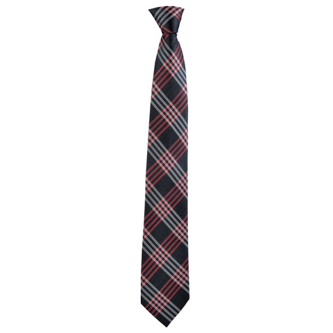 Checkered Rory Tie in Grey Plaid - Giorgio Mandelli