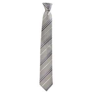 Checkered Philbert Tie in Grey Gingham - Giorgio Mandelli
