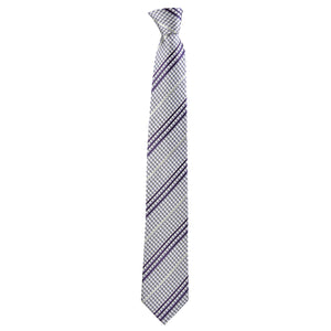 Checkered Philbert Tie in Purple Gingham - Giorgio Mandelli