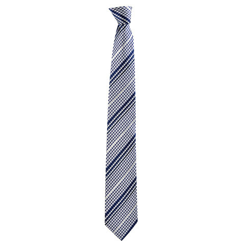 Checkered Philbert Tie in Blue Gingham - Giorgio Mandelli