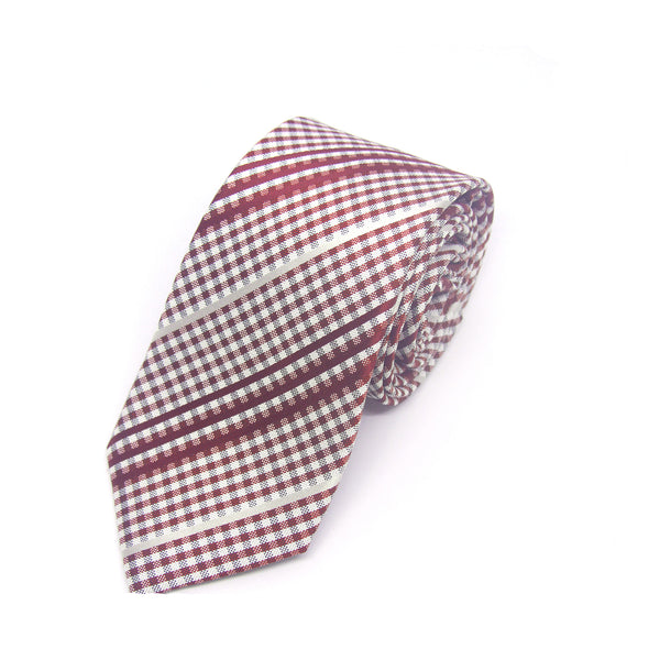 Checkered Philbert Tie in Red Gingham - Giorgio Mandelli