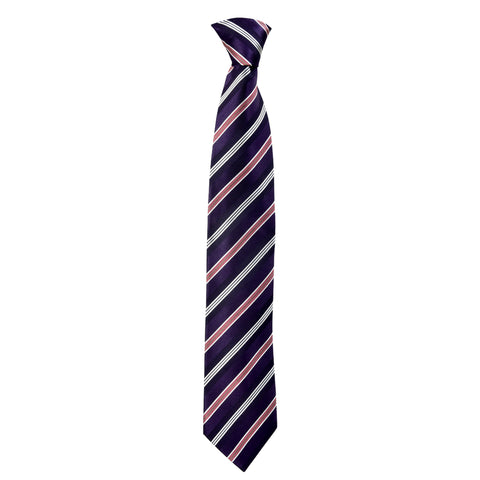 Lined Gordon Tie in Purple - Giorgio Mandelli