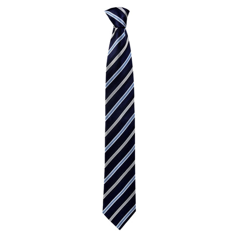 Lined Gordon Tie in Navy Blue - Giorgio Mandelli