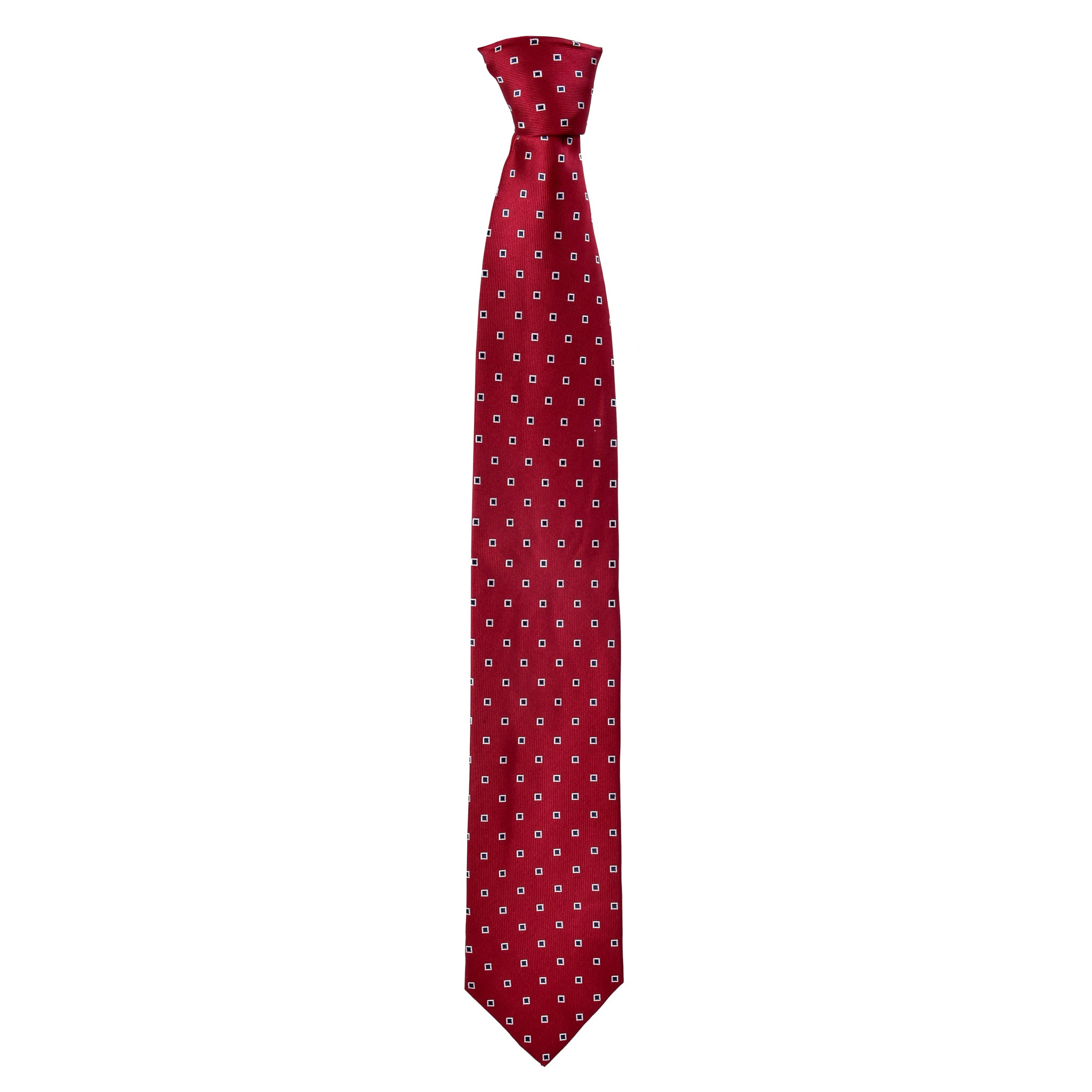 Spotted Oscar Tie in Burgundy Red - Giorgio Mandelli® Official Site | GIORGIO MANDELLI Made in Italy