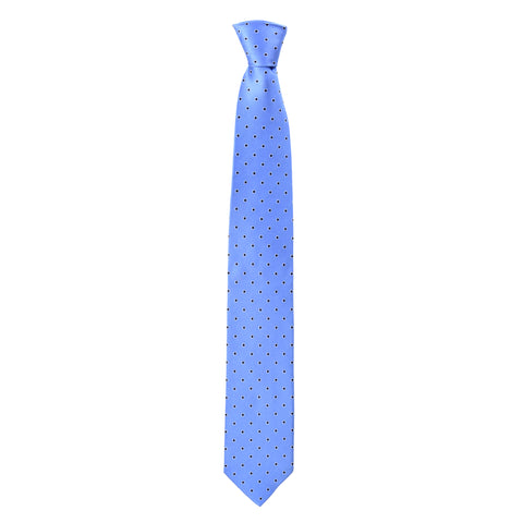 Spotted Oscar Tie in Baby Blue - Giorgio Mandelli® Official Site | GIORGIO MANDELLI Made in Italy