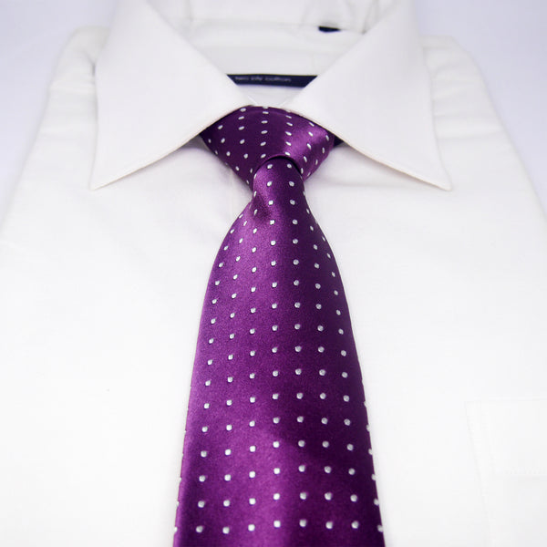 Spotted Whitford Tie in Purple - Giorgio Mandelli® Official Site | GIORGIO MANDELLI Made in Italy