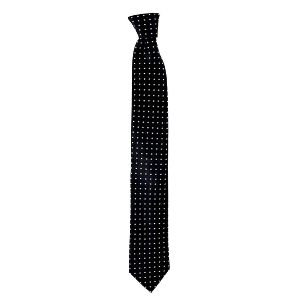 Spotted Whitford Tie in Black - Giorgio Mandelli® Official Site | GIORGIO MANDELLI Made in Italy