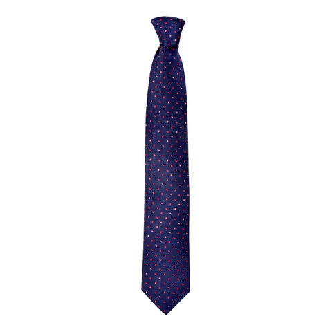 Printed Kane Tie in Blue - Giorgio Mandelli® Official Site | GIORGIO MANDELLI Made in Italy