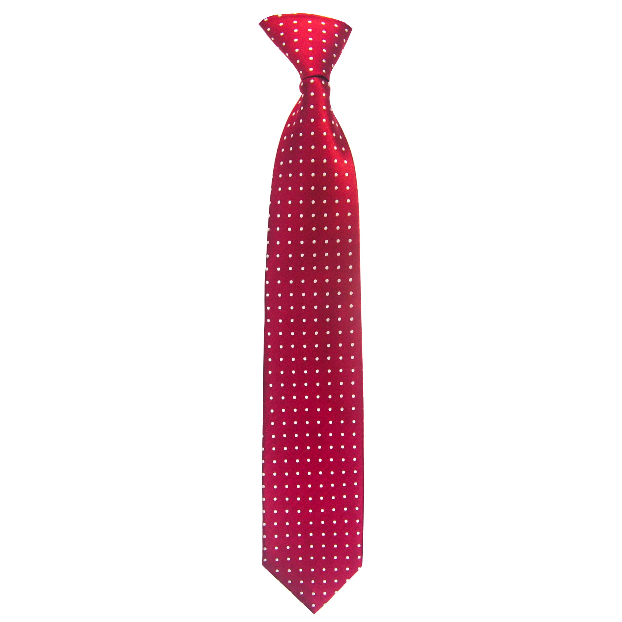 Spotted Whitford Tie in Red