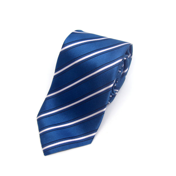Lined Casey Tie in Chathams Blue - Giorgio Mandelli