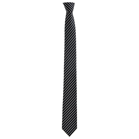 Skinny Lined Haig Tie in Black - Giorgio Mandelli® Official Site | GIORGIO MANDELLI Made in Italy