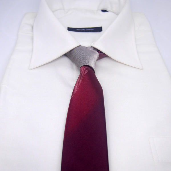 Skinny Ombre Hank Tie in Red - Giorgio Mandelli® Official Site | GIORGIO MANDELLI Made in Italy
