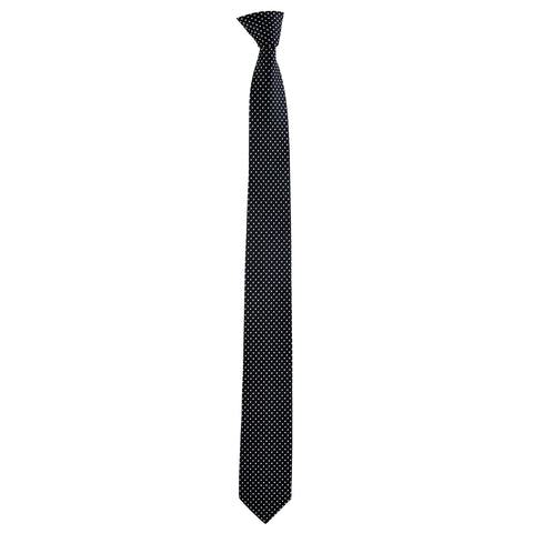 Skinny Spotted Dylan Tie in Black - Giorgio Mandelli® Official Site | GIORGIO MANDELLI Made in Italy