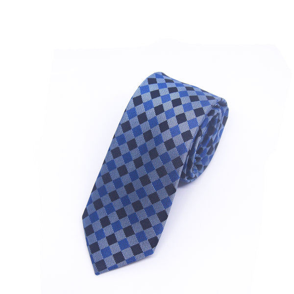 Skinny Printed Ford Tie in Blue - Giorgio Mandelli® Official Site | GIORGIO MANDELLI Made in Italy