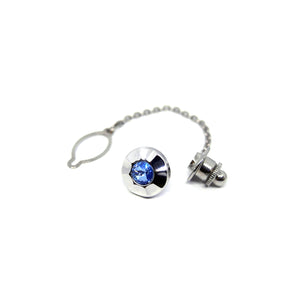 Impression Tie Tack in Blue - Giorgio Mandelli® Official Site | GIORGIO MANDELLI Made in Italy