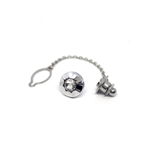 Impression Tie Tack in Silver - Giorgio Mandelli® Official Site | GIORGIO MANDELLI Made in Italy