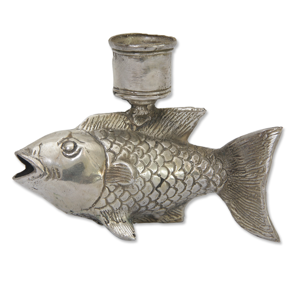 Bronze Fish Candle Holder