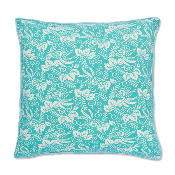 Kyoto Turquoise Cushion Cover, Small