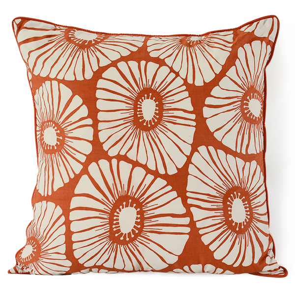 Retro Flowers Spice Cushion Cover, Medium
