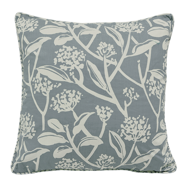 Frangipani Cool Grey Cushion Cover, Medium
