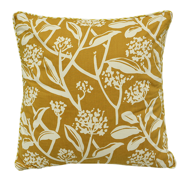 Frangipani Tumeric Cushion Cover, Medium