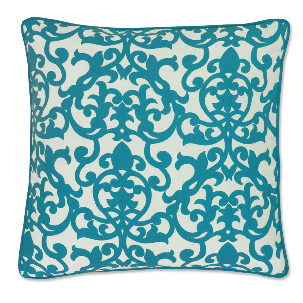 Florence Teal Cushion Cover, Medium