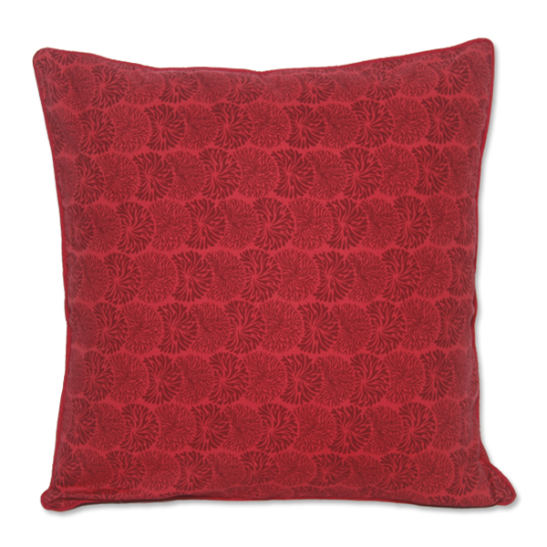 Tumbleweed Red Maroon Cushion Cover, Medium