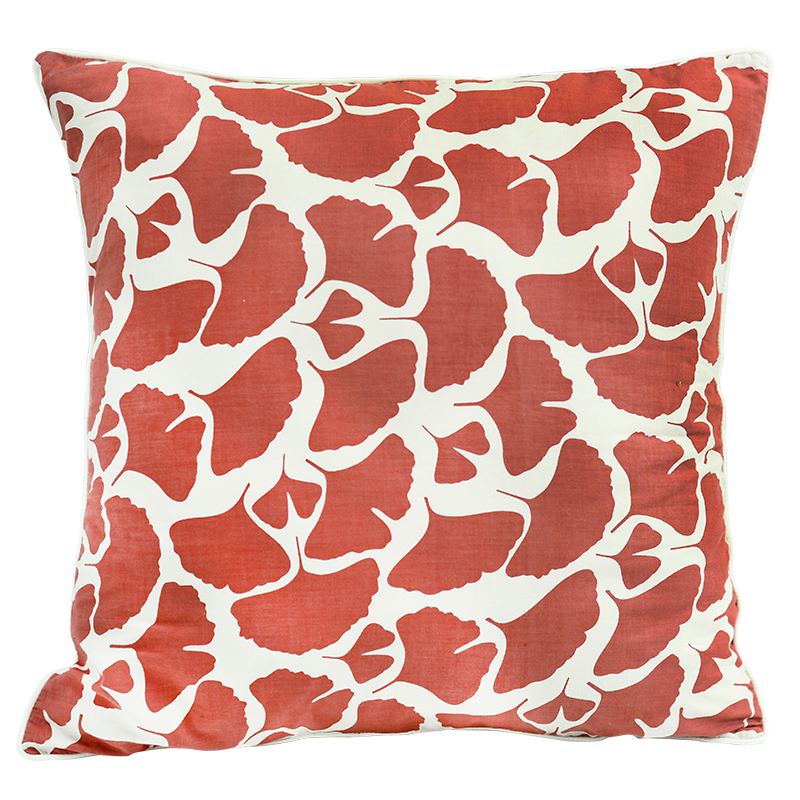 Coral Ginkgo Cushion Cover, Med/Large