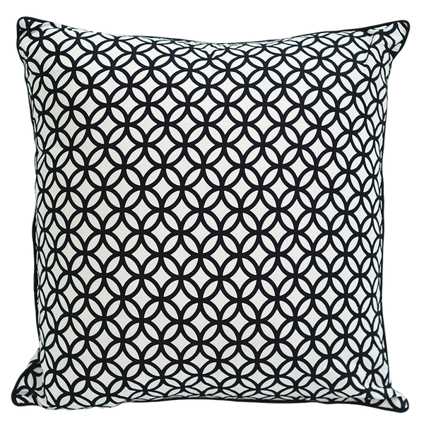 Black & White Rings Cushion Cover, Med/Large