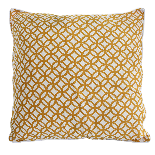Rings Turmeric Cushion Cover, Med/Large