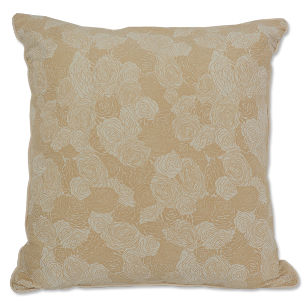 Beige Spring Flowers Cushion Cover, Med/Large