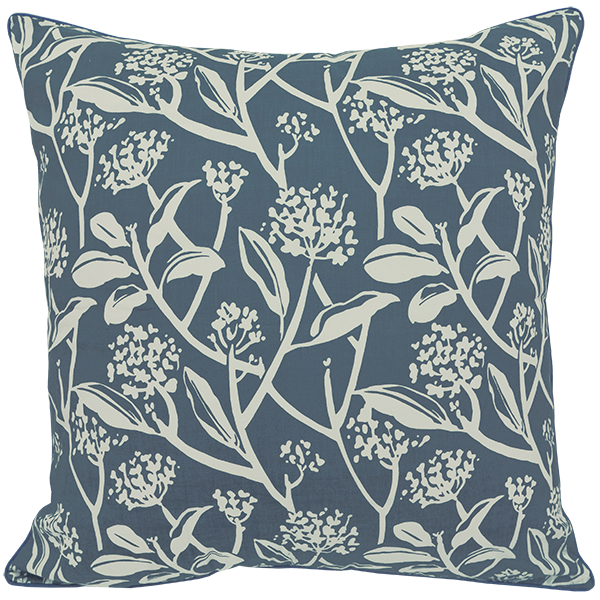 Frangipani French Blue Cushion Cover, Large