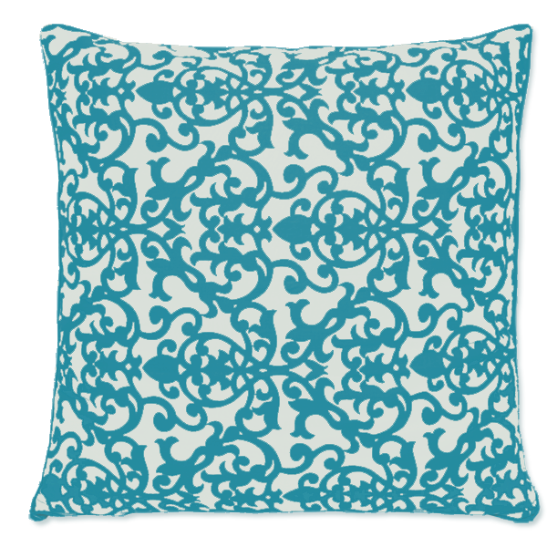 Florence Teal Cushion Cover, Large