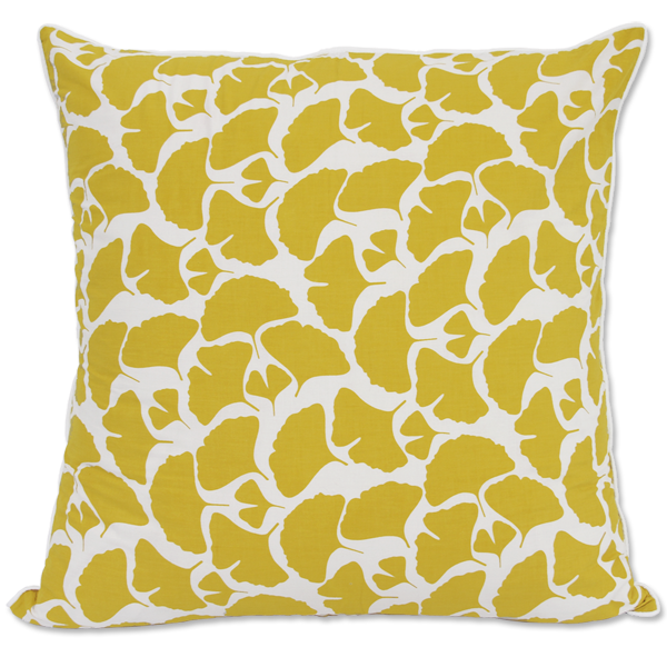 Leaf Citrus Yellow Cushion Cover, Large