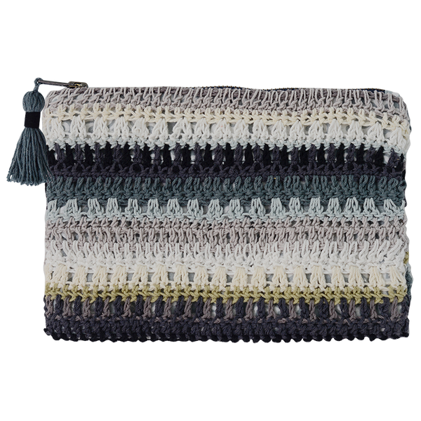 Crochet Clutch Bag Dark Mix