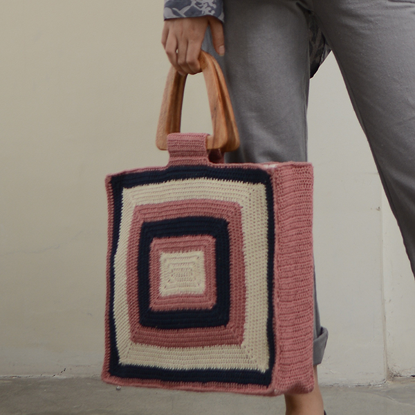 Crocheted Large Rectangle Bag