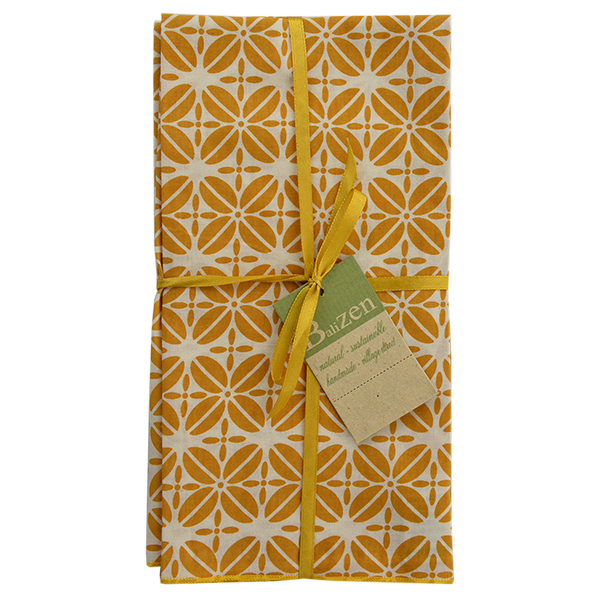 Turmeric Coffee Bean Napkins set of 4