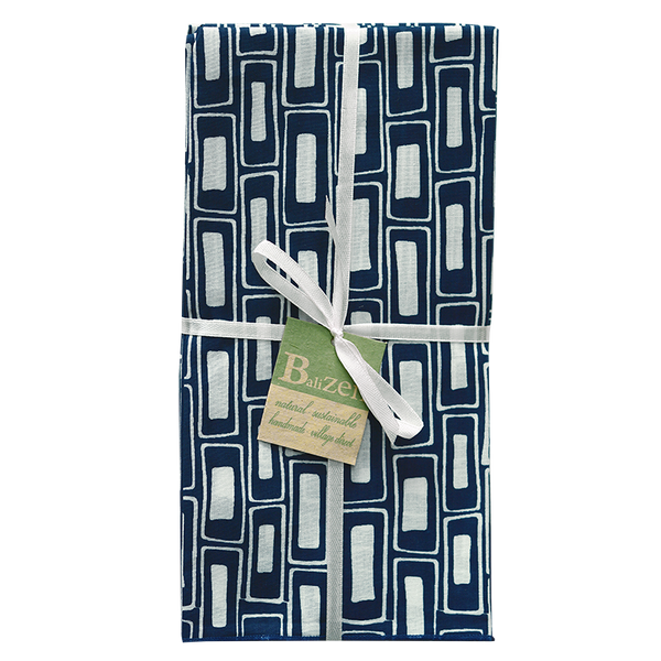 Rectangles Indigo Napkins set of 4