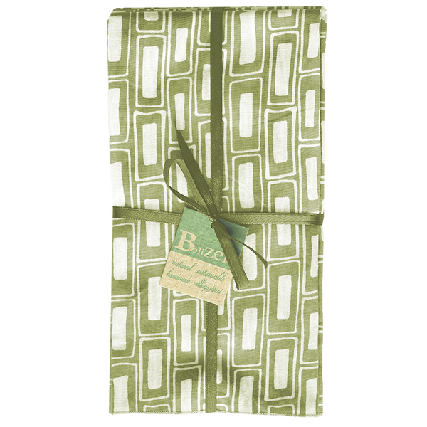 Rectangles Sage Napkins set of 4