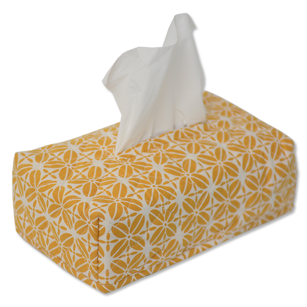 Coffee Bean Turmeric Tissue Box Cover