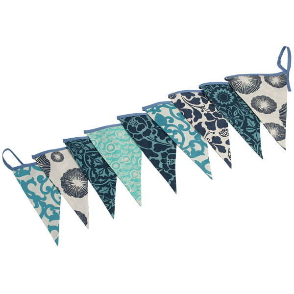 Blue Bunting Flag Banner