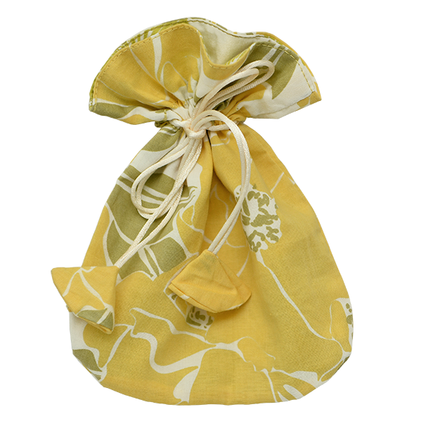 Rose Yellow Drawstring Bag, Small