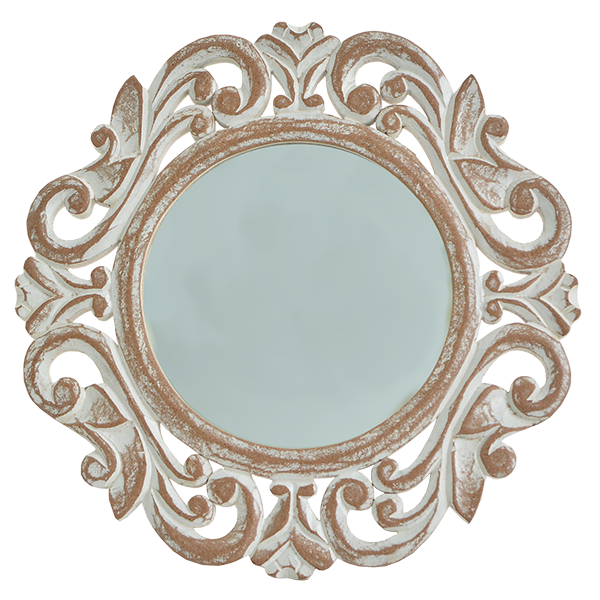 Natural Wooden Round Mirror