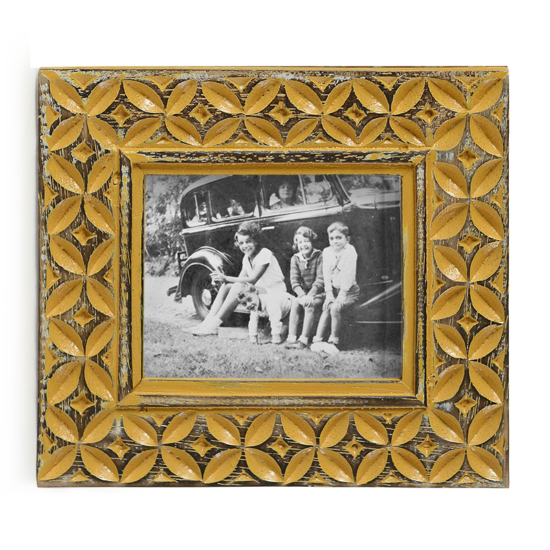 Turmeric Coffee Bean Motif Frame, Small