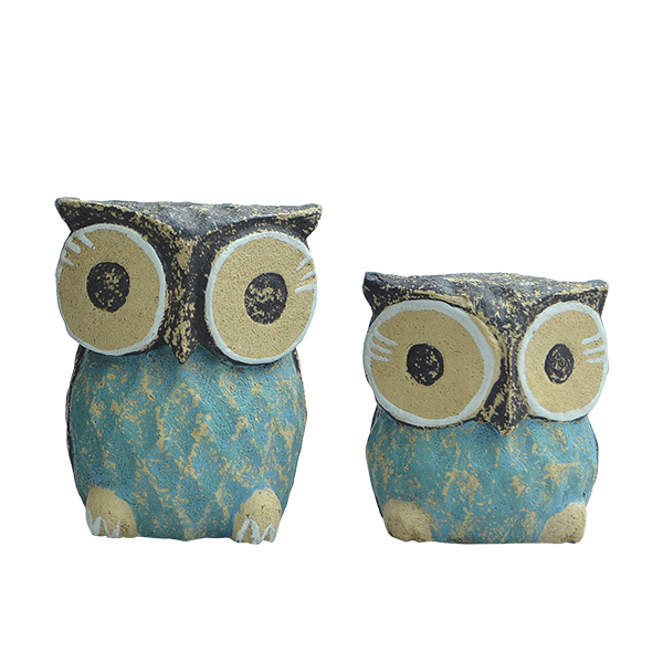 Rustic Owls, Set of 2, Small