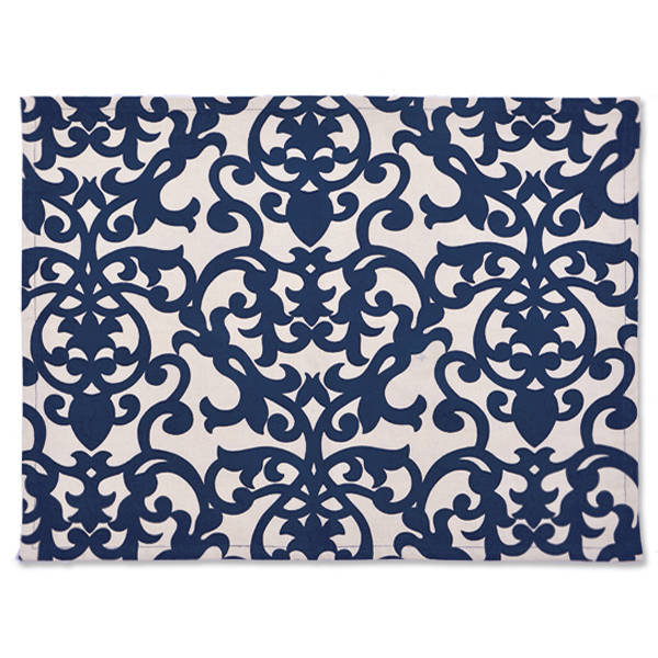 Florence Indigo Placemat, Set of 4 - SALE HOMEWARES